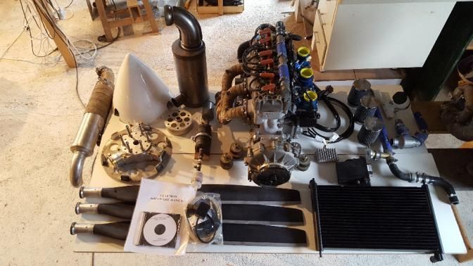Moteur Hirth 3701 injection 100cv complet